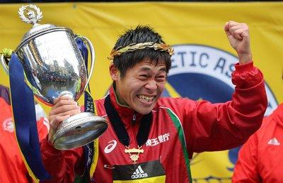 川内優輝がボストンマラソンで優勝